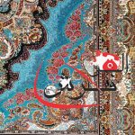 فرش بادامی ۷۰۰ شانه تراکم ۲۵۵۰ فرش ستاره