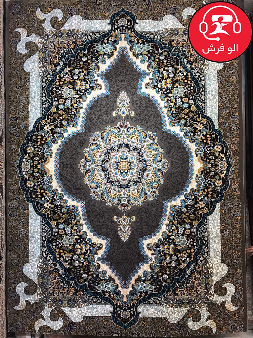 فرش سلطان سرمه ای ۷۰۰ شانه تراکم ۲۵۵۰
