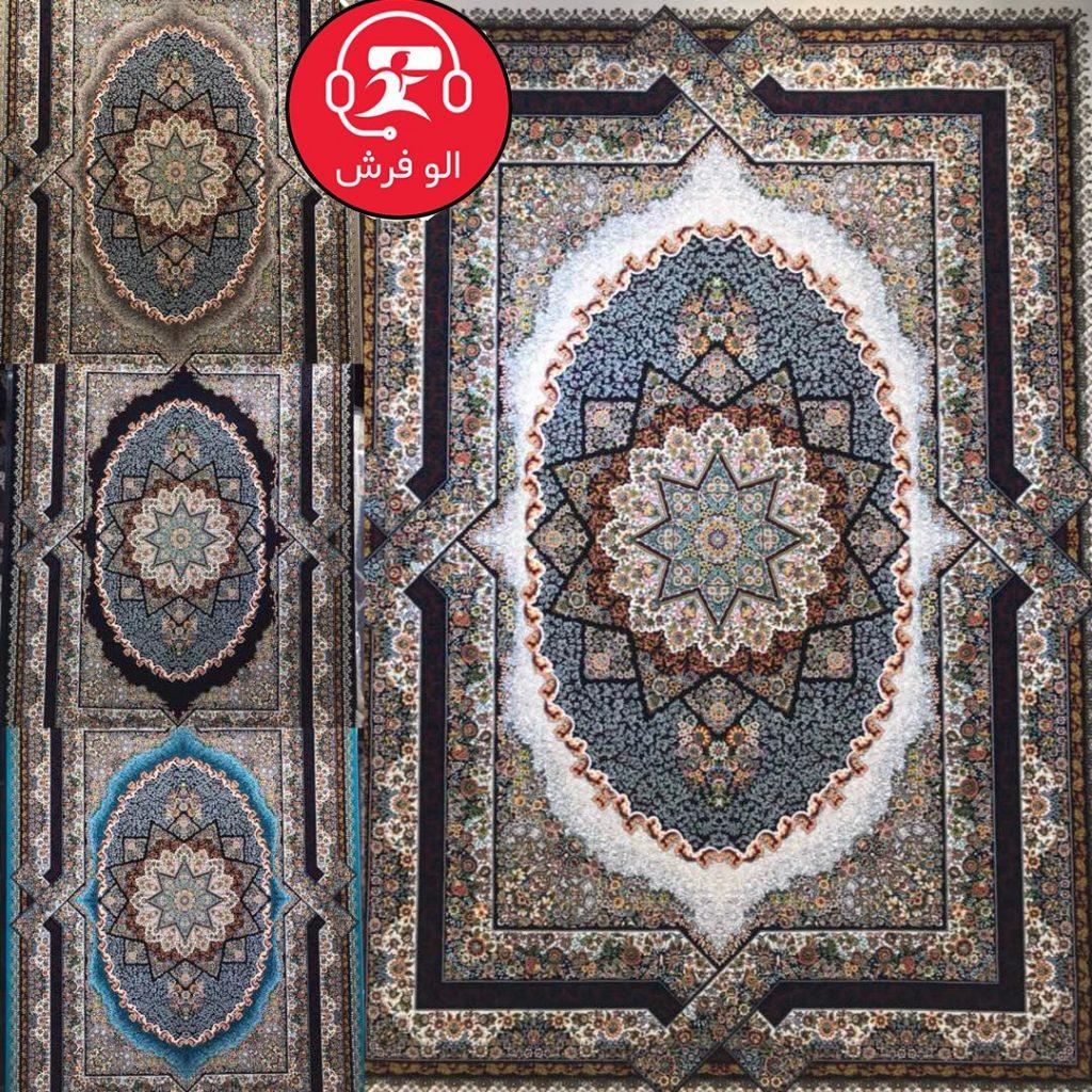 فرش عرفان سرمه ای ۷۰۰ شانه تراکم ۲۵۵۰