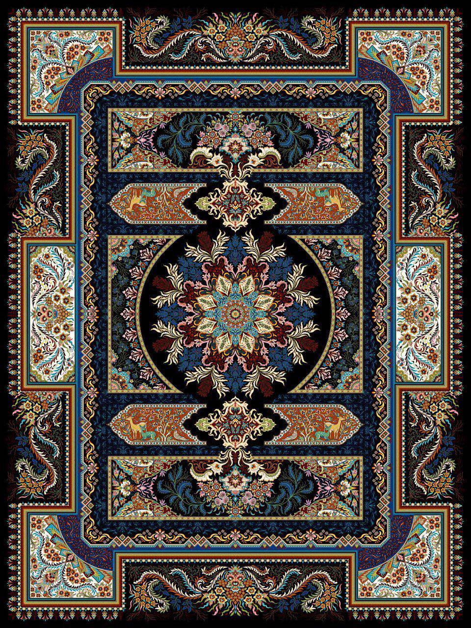 فرش محتشم کاشان 700 شانه