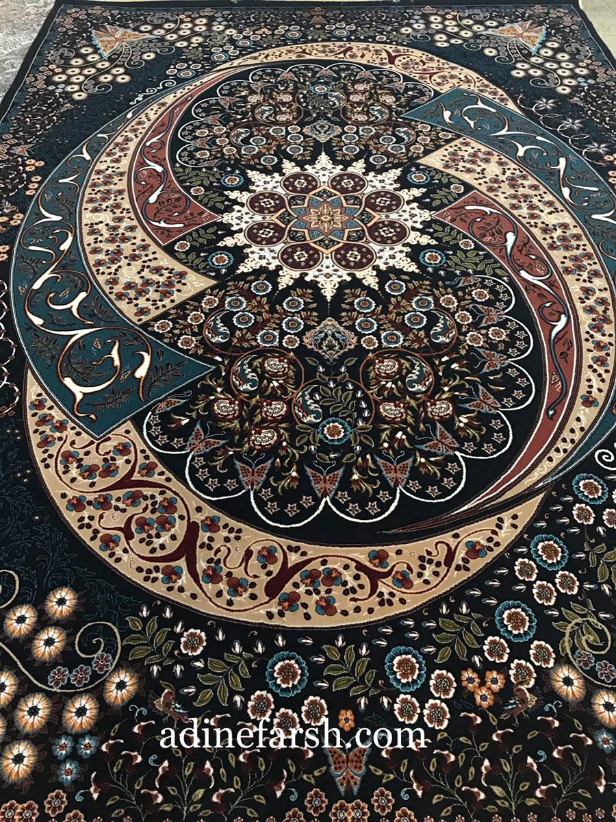 فرش گلستانه سورمه ای ۷۰۰ شانه