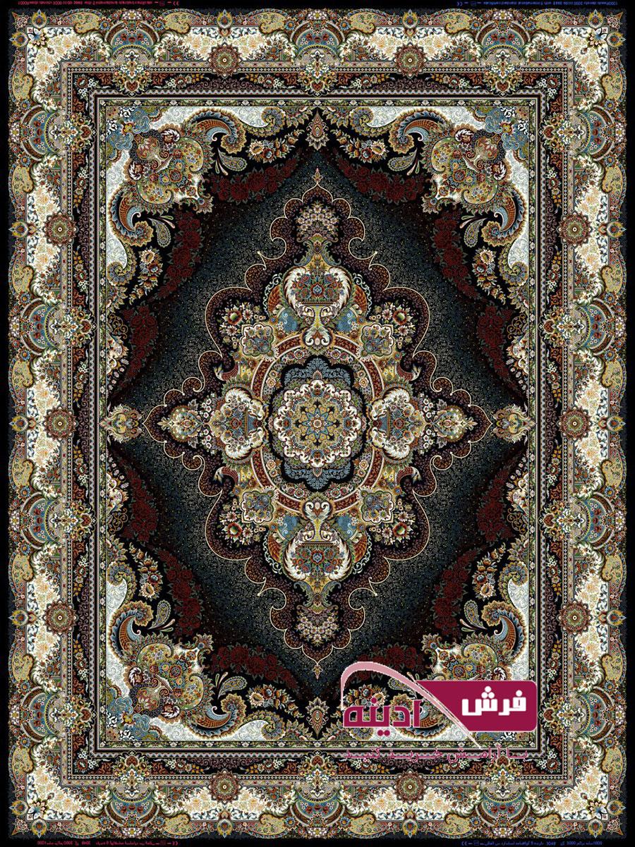فرش ۱۰۰۰ شانه طرح ستاره تراکم ۳۰۰۰